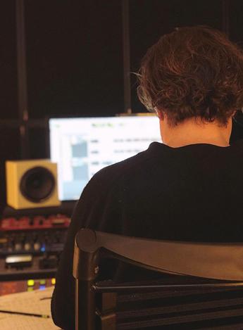 Rob Schlette in the studio